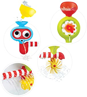 Yookidoo Baby Bath Toy - Spin 'N' Sprinkle Water Lab - Spinning Gear and Googly Eyes for Bath Time Sensory Developmen...