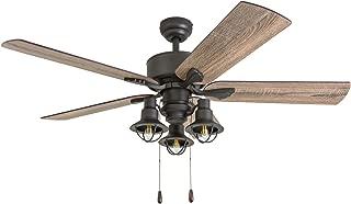 Prominence Home 50651-01 Sivan Farmhouse Ceiling Fan, 52