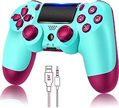 Controlador de jogo para PS4 sem fio Gamepad para PS4 / PS4 Pro / PC e laptop com vibração e função de áudio, mini indicad...