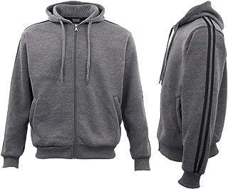 Mens Unisex Sports Zip Up Hoodie Hooded Jacket Fleece Sweat Shirt Jumper Sweater