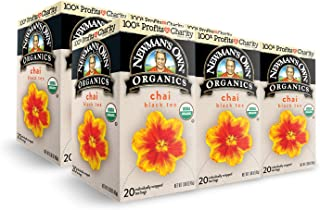 Newman's Own Organics Chai Black Tea, 1.60 Ounce. Packaging May Vary.