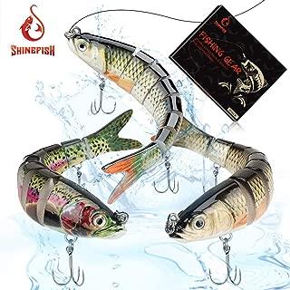 SHINEFISH Fishing Lures Multi Jointed Swim baits Slow Sinking bassLures The New Upgrade Luya Fishing Lures Gear