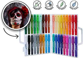 36 PCs Halloween Face Painting and Hair Coloring Kit - Easy Face Paint Crayons - Washable Face Paint - Twistable Face and Body Paint Markers - Water Based Face Paint Pens