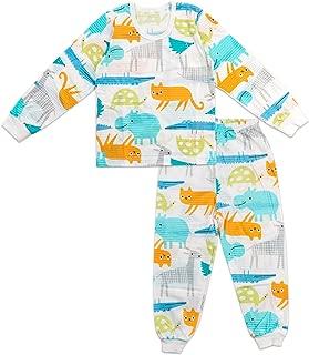 Toddler Kids Boys Girls Cotton Pajamas Long Sleeve 2 Piece Set