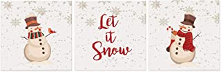 LifeSong Milestones Merry Christmas Decorating Ideas 3 Piece Shadow Box Set - Christmas Decoration Gift Ideas 6x6 (Let It Snow)