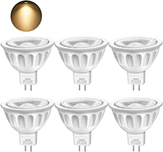Bombillas LED GU5.3, Boxlood MR16 LED 5W Lámparas Halógenas Equivalentes a 50W, LED 12V MR16, Blanco Cálido 3000K, Bombillas led 500LM, LED GU5.3 40° Luz, 6 Pack