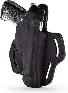 1791 - Beretta 92fs Thumb Break Holster - Right Handed OWB Leather Gun Holster - Fits Beretta 92FS, 90TWO, M9 / CZ 75,75b P07, P10, SP-01, P09 (BHX-4)