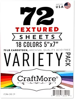 CraftMore Textured Variety Pack 5x7 Inch 72 Sheet
