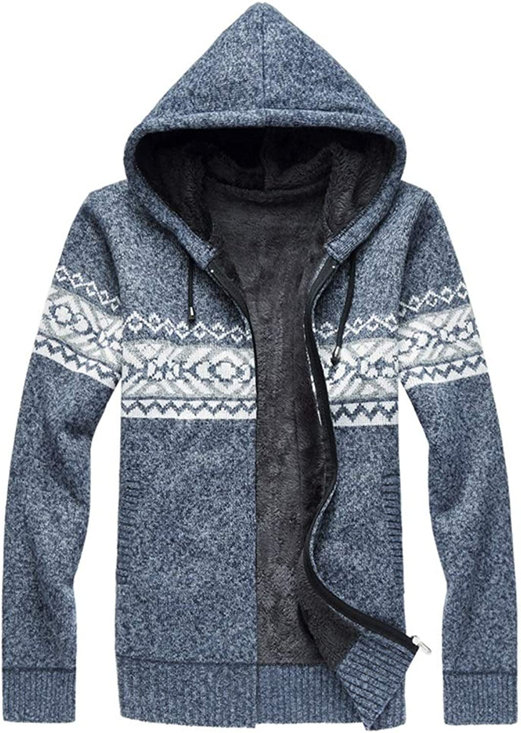 14ef7fdca Men's Sweater, Contrast Printed Printed Printed Cardigan Hooded Large Size  Coat Slim Fashion Zip Sweatshirt Autumn and Winter Hoodie (color B) 769ae1