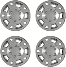OxGord 15 inch Hubcap Wheel Skins for 2004-2008 Chevrolet Colorado-(Set of 4) Wheel Covers- Car Accessories for 15inch Chrome Wheels- Auto Tire Replacement Exterior Cap Cover