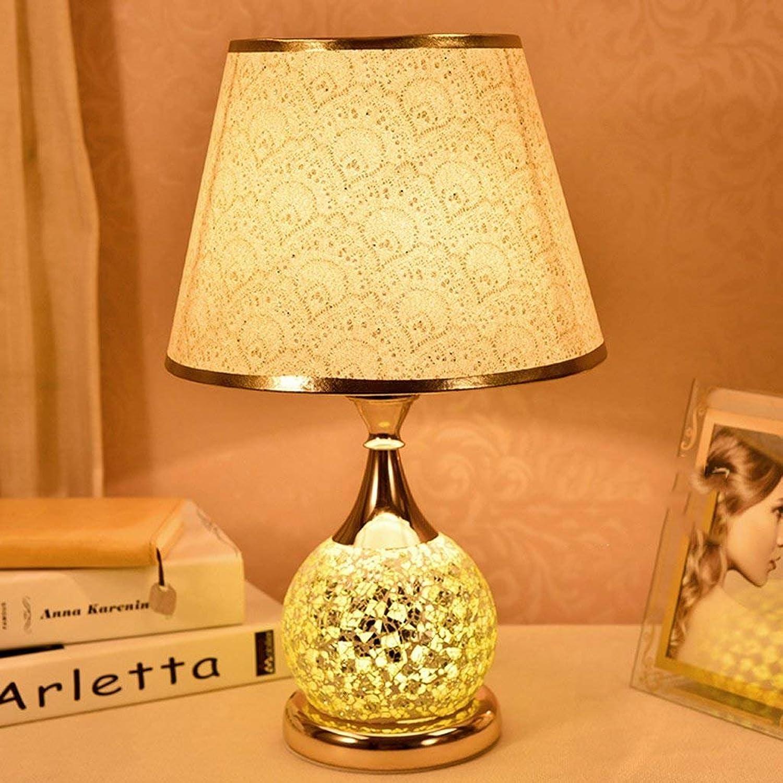 Hotel Schreibtischlampe Kristall Lampe Schlafzimmer Nachttischlampe Warmes Licht Glas E27 Dekorative Tischlampe Nachtlicht dekoration (Farbe   B)