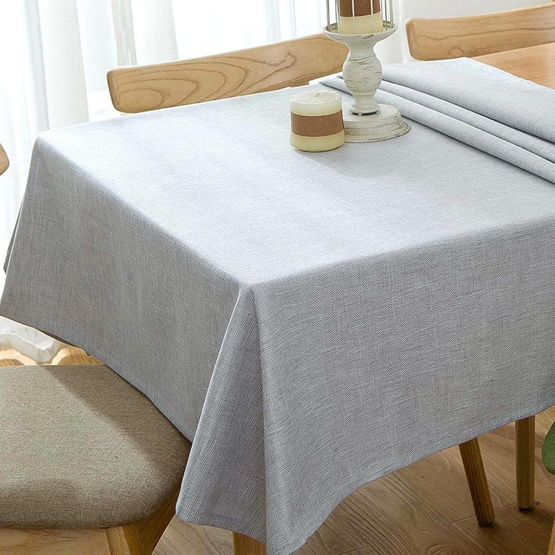 Xiaowu Einfache Leinen Tischdecke Couchtisch Tisch Esstisch Stoff Garten Erfrischende Baumwolltuch, 004, 140250cm
