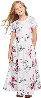فستان Arshiner طويل الأكمام للفتيات فستان طويل سادة مع جيوب