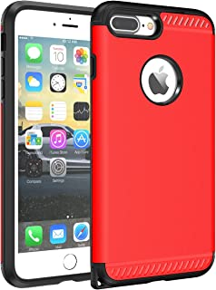 iPhone 7 Plus Case, CHTech iPhone 8 Plus Case Double Layer Shockproof Heavy Duty Protection Armor Case for Apple 5.iPhone 7 Plus/iPhone 8 Plus Red