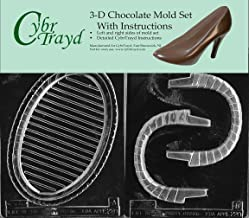Cybrtrayd E220AB Chocolate Candy Mold, Includes 3D Chocolate Molds Instructions and 2-Mold Kit, Large Pour Basket