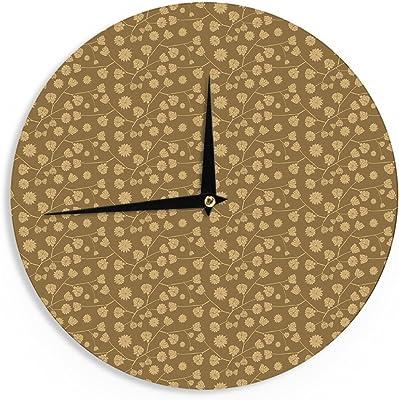 Kess InHouse Mayacoa Studio Golden Seed Gold Illustration 12 Diameter