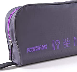 American Tourister 55139 5-in-1 Travel Pouch, Grey/Violet, 1 Size