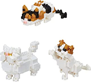 Nanoblocks - 3 Cat Sets - Persian Cat, Scottish Fold and Calico Cat Sets (Japan Import)