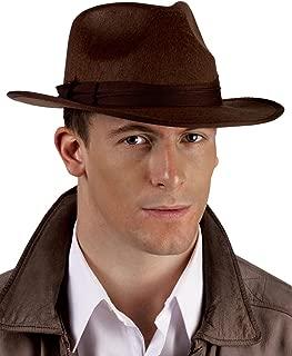 Fun World Black Brown Roaring 20'S Fedora Gangster Hat Adult Costume Accessory