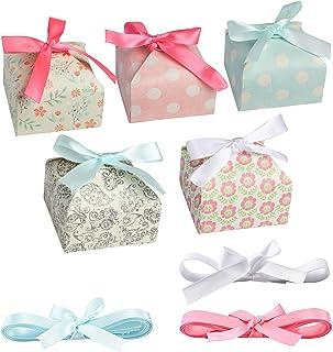 Surflyee 20 Pièces Boîte Cadeaux,Coffret Cadeau Décoration,Boîte-Cadeaux de Gâteaux,Utiliser pour le Dessert, des Bonbons,...