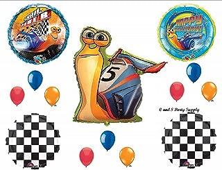 14 New Balloons Party Set Turbo Party Snail Power Happy Birthday