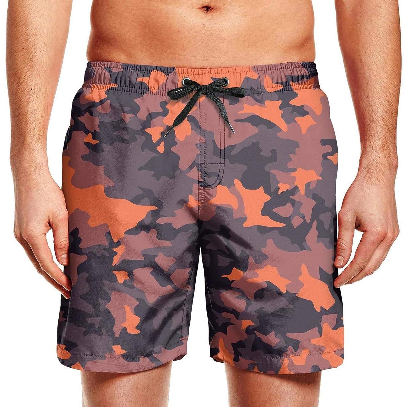 Man Classic Camo Fashion Camouflage Adjustable Waistline Beach Trunks Quick Dry Swim Trunks