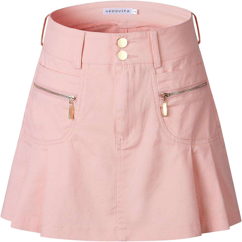 VKOOVIFA Women's Japan high Waisted Pleated Cosplay Short Mini Skirts