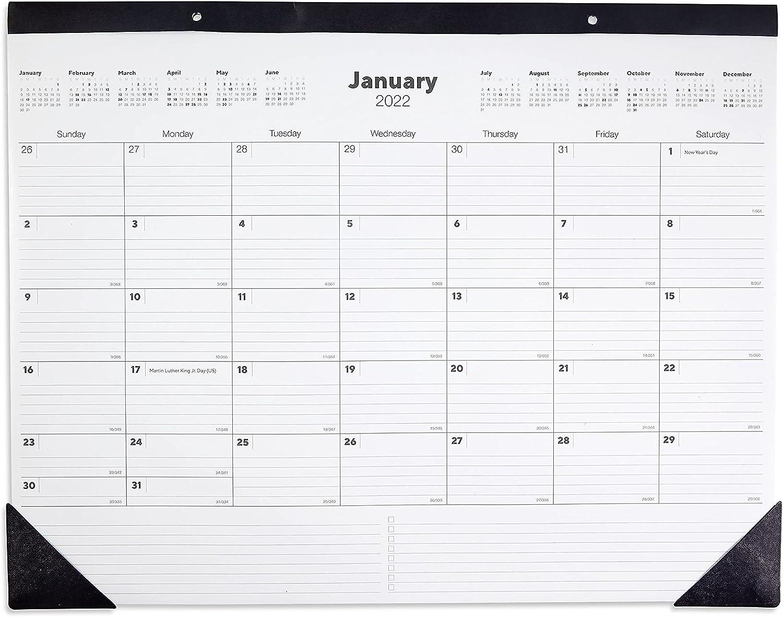 TRU RED TR12951-22 2022 17 x Quality inspection Calendar Wh Desk Black Ranking TOP19 22-Inch Pad