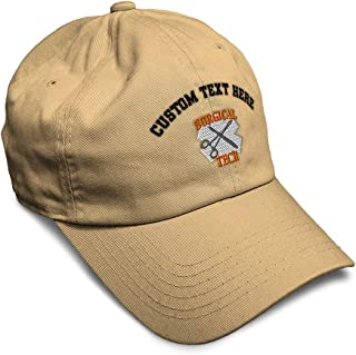 Custom Soft Baseball Cap Doctor Surgical Technician Embroidery Twill Cotton
