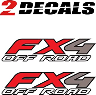 TiresFX Ford FX4 Off Road Decals Stickers - F (1997-2010) Super Duty F250 F350 F450 (Set of 2)