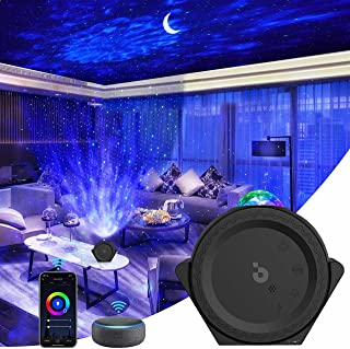 【2021最新進化版&壁にも映せる】3in1スタープロジェクターライト ベッドサイドランプ プラネタリウム APP/Alexa/Google homeで制御 カラフル(1600万色) タイマー機能付き 音声制御 色の濃淡/明るさ調整可 ロマンチ...