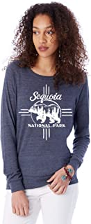 Alternative Apparel Women's Sequoia National Park Slouchy Eco-Jersey Pullover Long-Sleeve Top