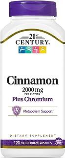 21st Century Cinnamon Plus Chromium Vegetarian Capsules, 120 Count