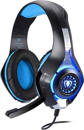BlueFire Cuffie Gaming per Xbox One, Cuffie da Gioco con 3.5mm Jack LED e Microfono Insonorizzato,Bass Stereo Audio Surround Cuffie da Gaming per PS4/Xbox One S/Nintendo Switch/PC/Laptop(Blu) - Trova i prezzi più bassi