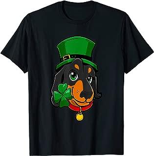 St Patricks Day Dachshund Shirt Leprechaun Dog Lover Gifts