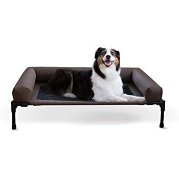 K&H PET PRODUCTS Original Bolster Pet Cot Elevated Pet Bed Chocolate