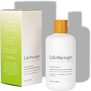 Lifetherapy Body Wash and Bubbling Bath | Sulfate Free Body Wash, Bubble Bath and Liquid Hand Soap (Energized)