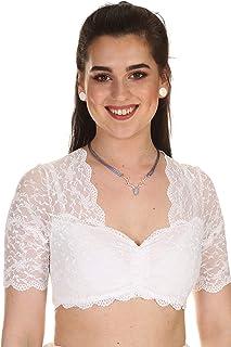 Nina von C. Damen Dirndlbluse Spitzenbluse Dirndl Dirndl Bluse Spitze 48463971