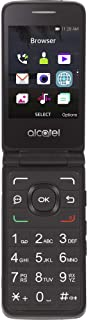 Simple Mobile Carrier-Locked Alcatel MyFlip 4G Prepaid Flip Phone- Black - 4GB - Sim Card Included – GSM