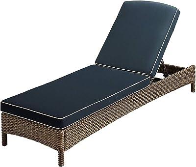 Amazon.com: Crosley Palm Harbor chaise lounge de mimbre al ...