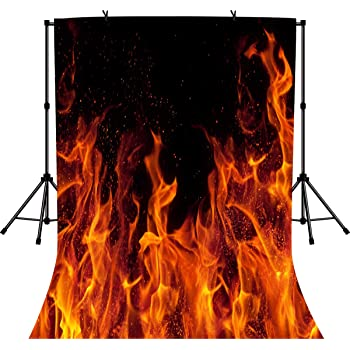 8x12 FT Cars Vinyl Photography Backdrop,Front View of a Fire Car Speeding Hot Flames on Abstract Backdrop Concept Design Background for Baby Shower Bridal Wedding Studio Photography Pictures