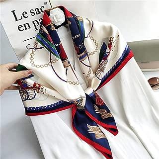 JERPOZ Women's Scarf Silk Scarf Shawl Head Wrap Sarong for Daily Wear Wedding Sun Gifts (Color : E)
