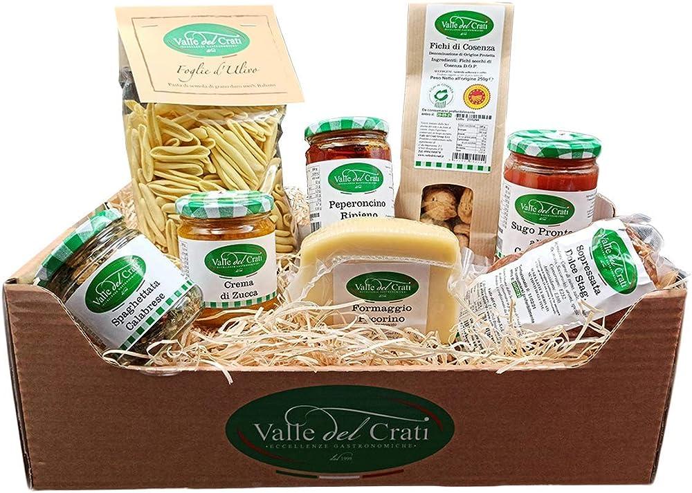 Cesto pasquale,prodotti tipici calabresi,box 8 prodotti,dolce e salato