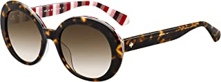 Kate Spade Women's Cindra/s Round Sunglasses, Havana, 54 mm