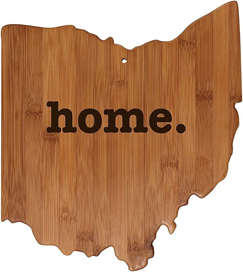 Ohio State Shaped OFFicial Bamboo Wood Cutting home. Board Engraved 55% OFF Perso