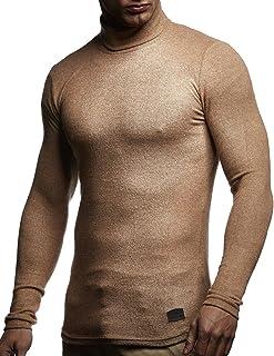 f08fab2b20 LEIF NELSON Herren Pullover Rollkragen Slim Fit | Schwarzer Männer  Rollkragenpullover Longsleeve | dünner Pulli Sweatshirt