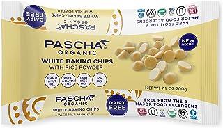 Pascha Organic Vegan White Chocolate Chip, UTZ, Gluten Free & Non GMO, 7 Ounce, Pack of 8