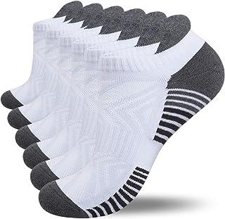 Lapulas Running Socks, 6 Pairs Cushioned Anti-Blister Trainer Socks Sports Socks Walking Socks Cotton Ankle Socks for Men ...