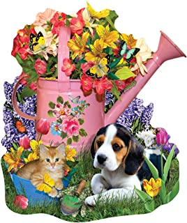 Spring Watering Can 1000 Shaped Piece Jigsaw Puzzle by SunsOut