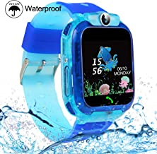 Kids Smartwatches, SZBXD Waterproof LBS/GPS Tracker Phone SOS Touchscreen Smartwatch Games Clock Smart Watch Christmas Birthday Gifts for School Boy Girls (Blue)